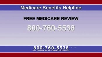 Medicare Benefits Helpline TV Spot, 'Free Medicare Review' - Thumbnail 1