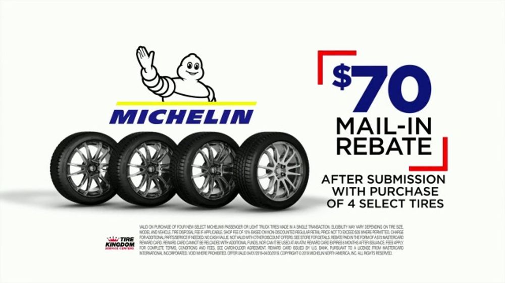 Tire Kingdom Big Brands Bonus Month TV Commercial, 'Michelin Mail-In Rebate'