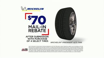 Tire Kingdom Big Brands Bonus Month TV Spot, 'Michelin Mail-In Rebate' - Thumbnail 7