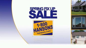 1-800-HANSONS Spring Fix-Up Sale TV Spot, 'Windows, Siding and Roofing'