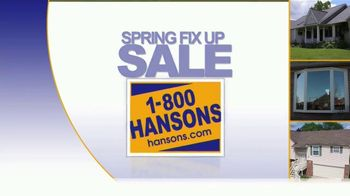 1-800-HANSONS Spring Fix-Up Sale TV Spot, 'Windows, Siding and Roofing' - Thumbnail 4