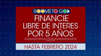 Rooms to Go TV Spot, 'Grandes ahorros: Día de los Presidentes' [Spanish] - Thumbnail 2
