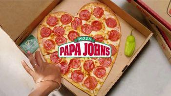 Papa John's Heart Shaped Pizza TV Spot, 'Share Your Heart With Your Valentine' - Thumbnail 1