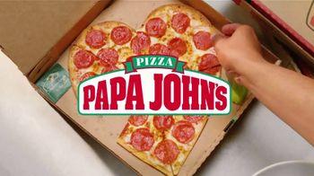 Papa John's Heart Shaped Pizza TV Spot, 'Share Your Heart With Your Valentine' - Thumbnail 2