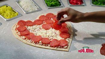 Papa John's Heart Shaped Pizza TV Spot, 'Share Your Heart With Your Valentine' - Thumbnail 6