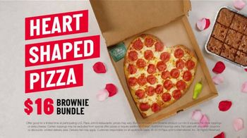 Papa John's Heart Shaped Pizza TV Spot, 'Share Your Heart With Your Valentine'