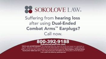 Sokolove Law TV Spot, 'Military Earplugs and Hearing Loss' - Thumbnail 6