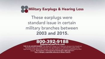 Sokolove Law TV Spot, 'Military Earplugs and Hearing Loss' - Thumbnail 2