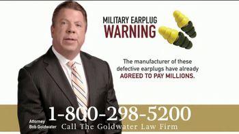 Goldwater Law Firm TV Spot, 'Military Earplugs' - Thumbnail 2