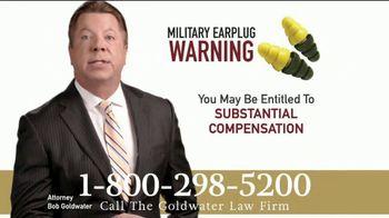 Goldwater Law Firm TV Spot, 'Military Earplugs' - Thumbnail 3