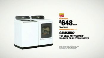 The Home Depot TV Spot, 'More: Samsung Activewash Laundry Pair: 30 Percent' - Thumbnail 9