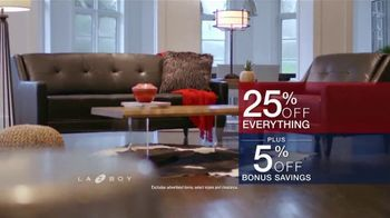 La-Z-Boy Presidents Day Sale TV Spot, 'Special Piece: 25 Percent and Bonus Savings' - Thumbnail 9