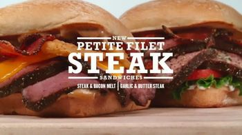 Arby's Petite Filet Steak Sandwich TV Spot, 'Exact Cut' Song by Yogi - Thumbnail 9