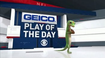 GEICO TV Spot, 'CBS Sports: Play of the Day: Seat in the Sun' - Thumbnail 1