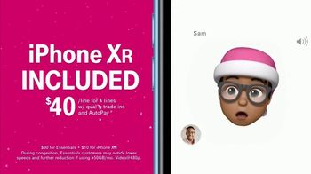T-Mobile Unlimited TV Spot, '2018 Holidays: Santa Hat Emojis'
