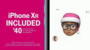 T-Mobile Unlimited TV Spot, 'Holidays: Santa Hat Emojis' - 1155 commercial airings