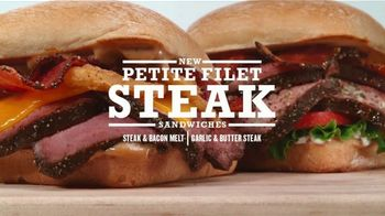 Arby's Petite Filet Steak TV Spot, 'Served in a Cardboard Box' Song by Yogi - Thumbnail 4