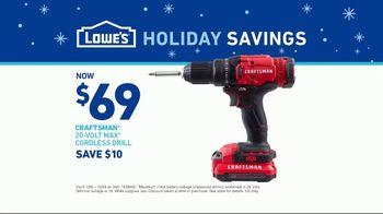 Lowe's Holiday Savings TV Spot, 'Tool Guys: Craftsman Cordless Drill' - Thumbnail 10