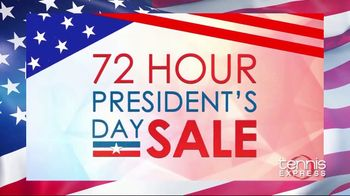Tennis Express 72 Hour Presidents Day Sale TV Spot, '20% Off'