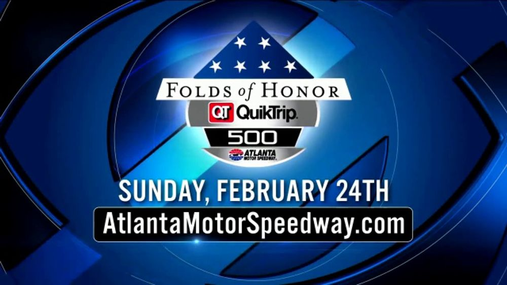 Atlanta Motor Speedway TV Commercial, '2019 Folds of Honor QuikTrip 500' -  Video
