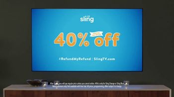 Sling TV Spot, 'Mood: Tax Offer' Featuring Nick Offerman, Megan Mullally - Thumbnail 8