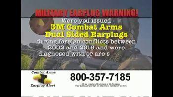 Combat Arms Earplugs Legal Helpline TV Spot, '3M Earplugs'