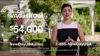 NewDay USA VA Cash Out Home Loan TV Spot, 'Consolidate' - Thumbnail 4
