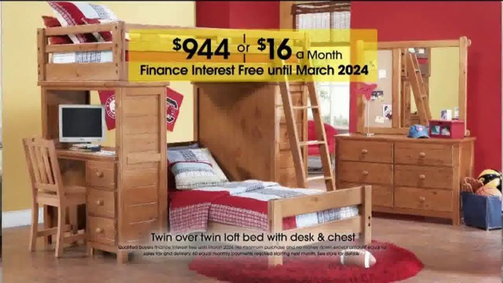 Rooms to Go Kids and Teens Anniversary Sale TV Commercial, \'Twin Loft Bed\'  - Video