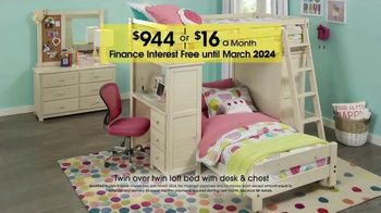 Rooms to Go Kids and Teens Anniversary Sale TV Spot, 'Twin Loft Bed' - Thumbnail 3