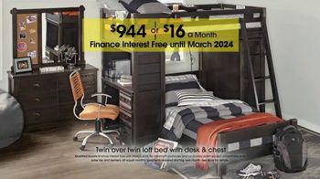 Rooms to Go Kids and Teens Anniversary Sale TV Spot, 'Twin Loft Bed' - Thumbnail 4