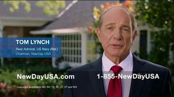NewDay USA VA Cash Out Home Loan TV Spot, 'Thank You Admiral' - 371 commercial airings