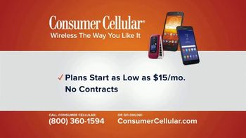 Consumer Cellular TV Spot, 'The Way You Like It: First Month Free: Plans $15+ a Month' - Thumbnail 10