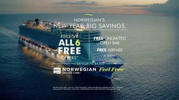 Norwegian Cruise Lines New Year Big Savings TV Spot, 'Out Here You're Free: Six Offers' Song by Andy Grammer - Thumbnail 10