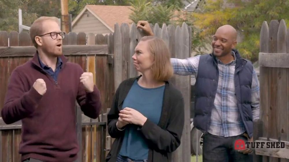 Tuff Shed TV Commercial, 'Backyard Makeover: Man Cave ...