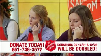 The Salvation Army TV Spot, 'Donations Doubled' - Thumbnail 2