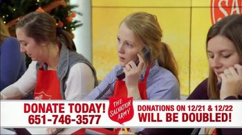 The Salvation Army TV Spot, 'Donations Doubled'