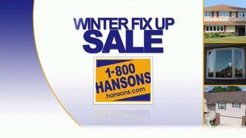 1-800-HANSONS Winter Fix Up Sale TV Spot, 'Save on Installation'