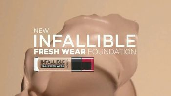 L'Oreal Paris Infallible Fresh Wear Foundation TV Spot, 'Won't Weigh You Down' Song by Queen - Thumbnail 2