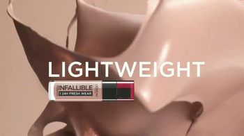 L'Oreal Paris Infallible Fresh Wear Foundation TV Spot, 'Won't Weigh You Down' Song by Queen - Thumbnail 3