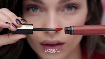 L'Oreal Paris Rouge Signature Matte Colored Ink TV Spot, 'Less and More' - Thumbnail 2