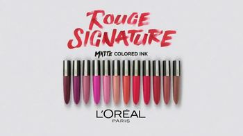 L'Oreal Paris Rouge Signature Matte Colored Ink TV Spot, 'Less and More' - Thumbnail 8