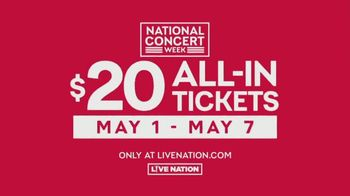 Live Nation National Concert Week TV Spot, '$20 Concert Tickets' - Thumbnail 7