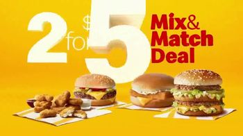 McDonald's 2 for $5 Mix & Match Deal TV Spot, 'Choose From Your Favorites' - Thumbnail 2