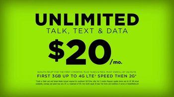 SIMPLE Mobile TV Spot, 'No-Contract Advantage: $20'