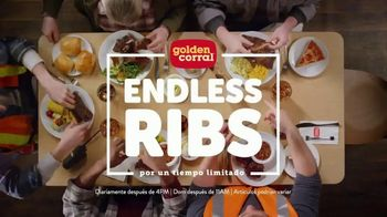 Golden Corral Endless Ribs TV Spot, 'Barra de ensaladas' [Spanish]