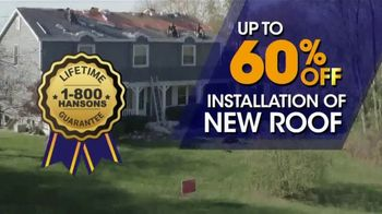 1-800-HANSONS Biggest Roofing Sale of the Year TV Spot, 'Get Your Home Ready Roofing'