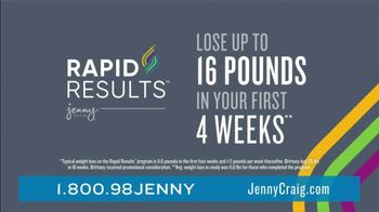 Jenny Craig Rapid Results TV Spot, 'Brittany: 20 for $20' - Thumbnail 3
