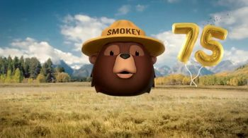 Smokey Bear Campaign TV Spot, 'Stephen Colbert: Smokey Bear's 75th Birthday' - 558 commercial airings