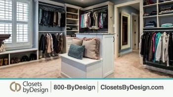 Closets by Design TV Spot, 'Clutter to Calm' - Thumbnail 1