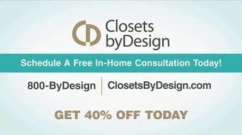 Closets by Design TV Spot, 'Clutter to Calm' - Thumbnail 9